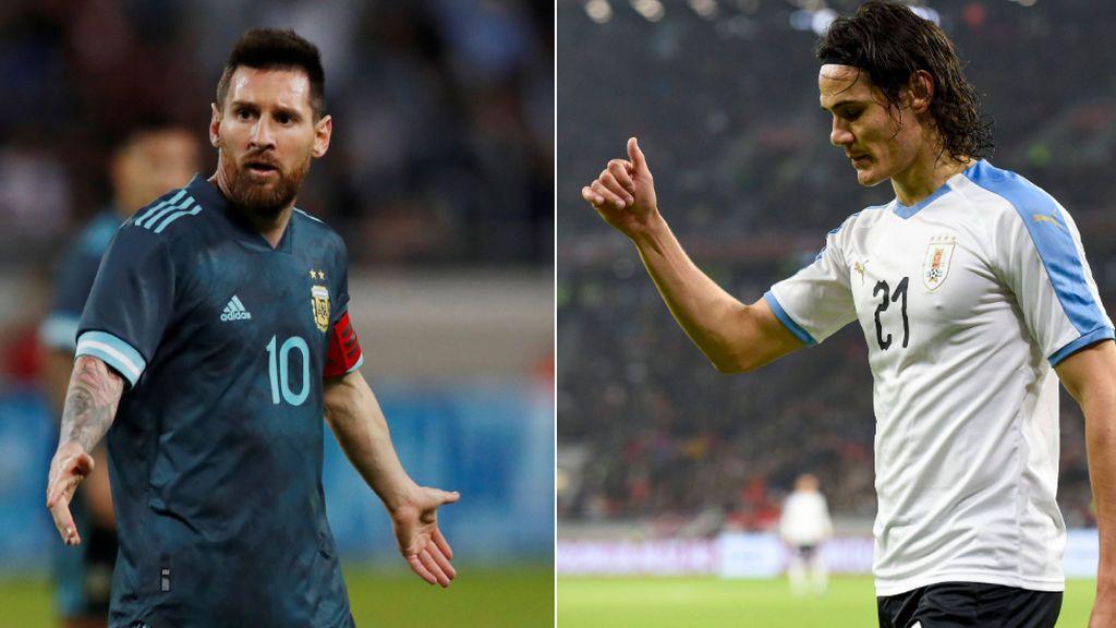 """El pique entre Messi y Cavani en el Clásico entre Argentina y Uruguay: """"Cuando quieras, cuando quieras"""""""