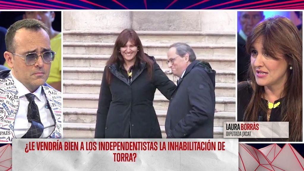 """Laura Borràs, sobre los lazos amarillos que no retiró Quim Torra: """"El president salvaguardó el derecho a la libertad de expresión, no atenta contra nadie"""""""