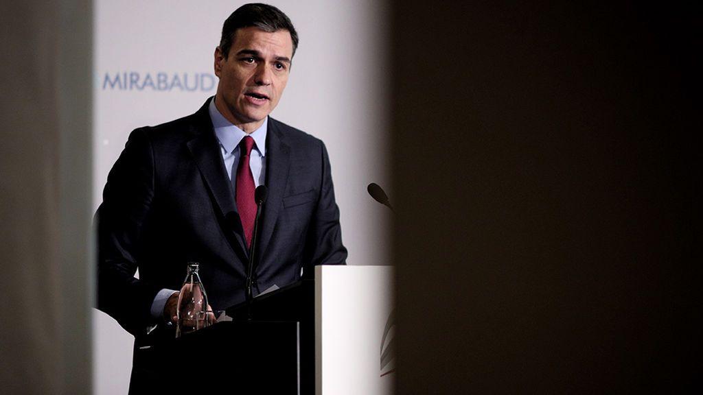 Pedro Sánchez en su discurso ante los empresarios