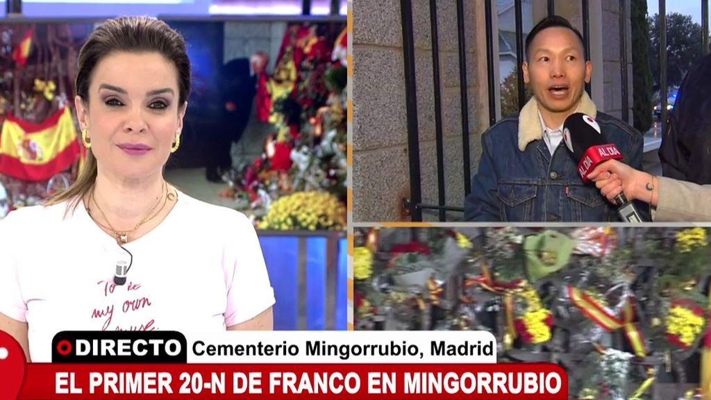 """El chino franquista celebra el 20-N en Mongorrubio: """"Han sacado a Franco del Valle, pero no de la historia"""""""