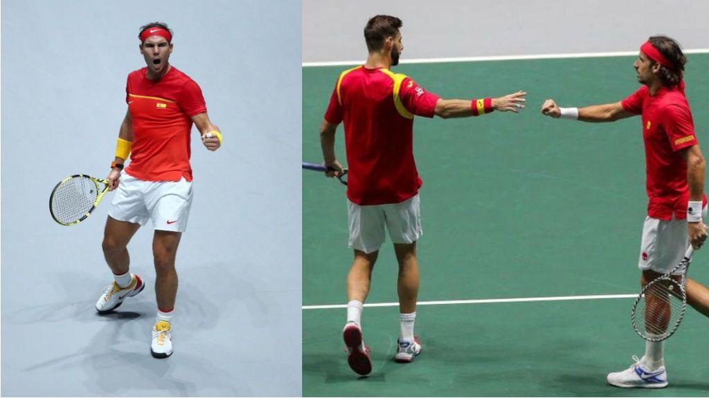 Nadal y el dobles dan la vuelta a la eliminatoria ante Rusia de la Copa Davis