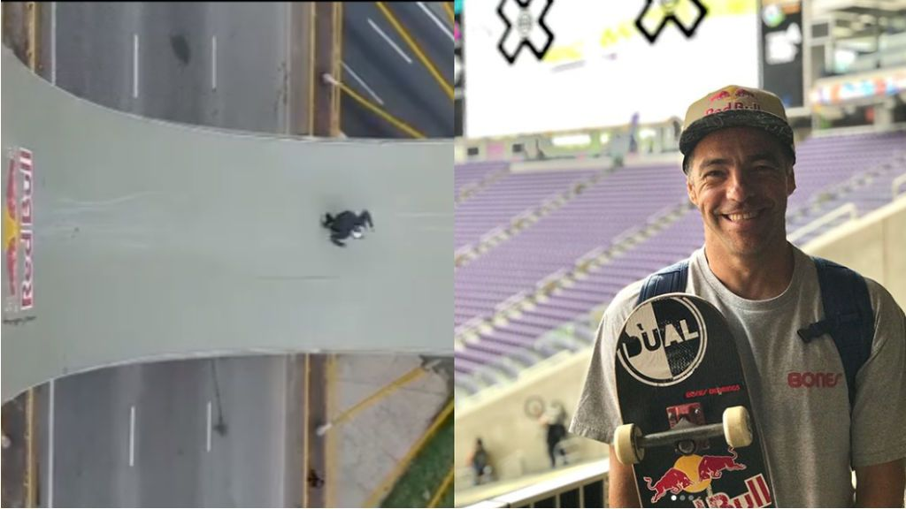 Un skater profesional se juega la vida con su último reto en un puente a 45 metros de altura