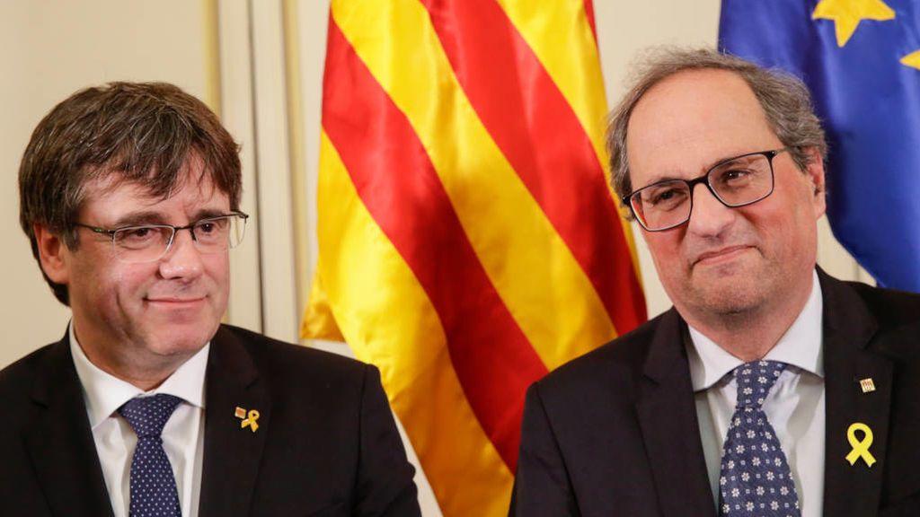 Torra y Puigdemont se reúnen en Waterloo