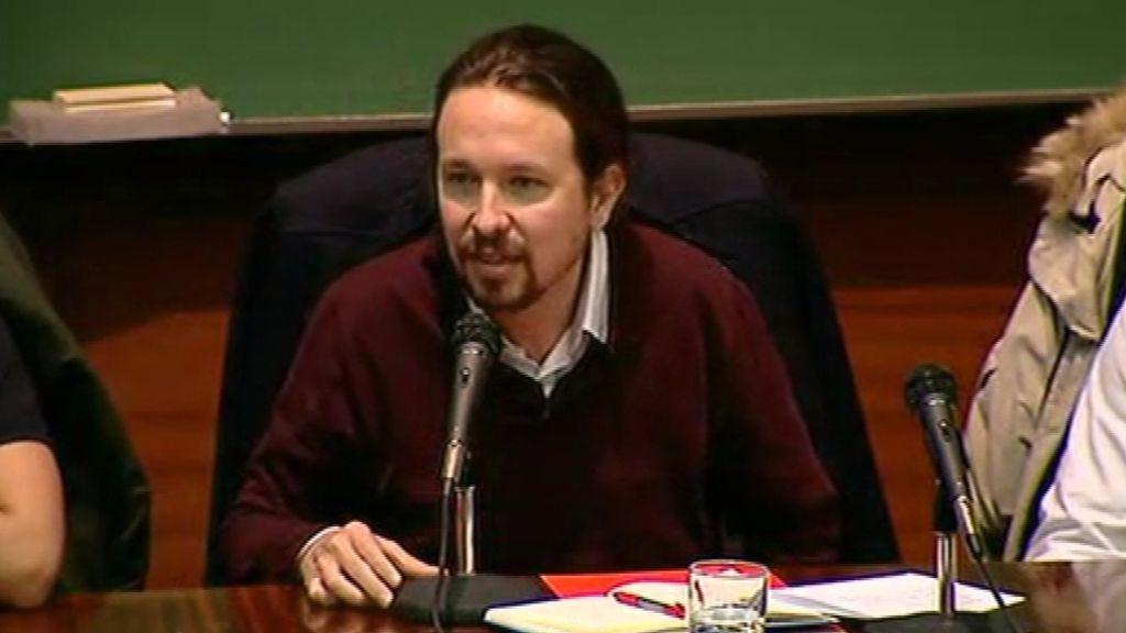 En directo: charla de Pablo Iglesias en la Universidad Complutense