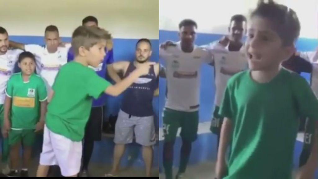 """La charla profesional de un niño brasileño a los más mayores: """"Llegó la hora, tenemos que se campeones"""""""