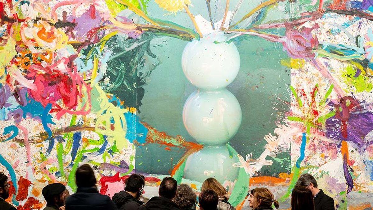 'La consagración de la primavera', el primero y mayor cuadro de la exposición de Pedro Almodóvar y Jorge Galindo