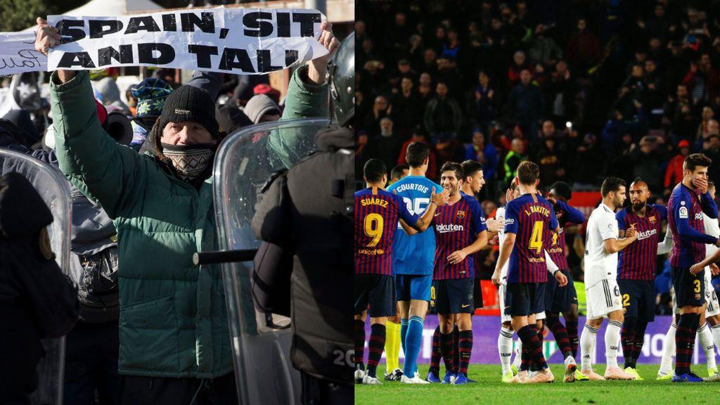 """Tsunami Democràtic pide al Barça y al Madrid que permitan exhibir una pancarta el día del Clásico: """"Siéntate y habla"""""""