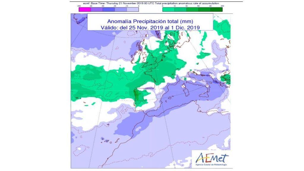 anomalia lluvias prox semana