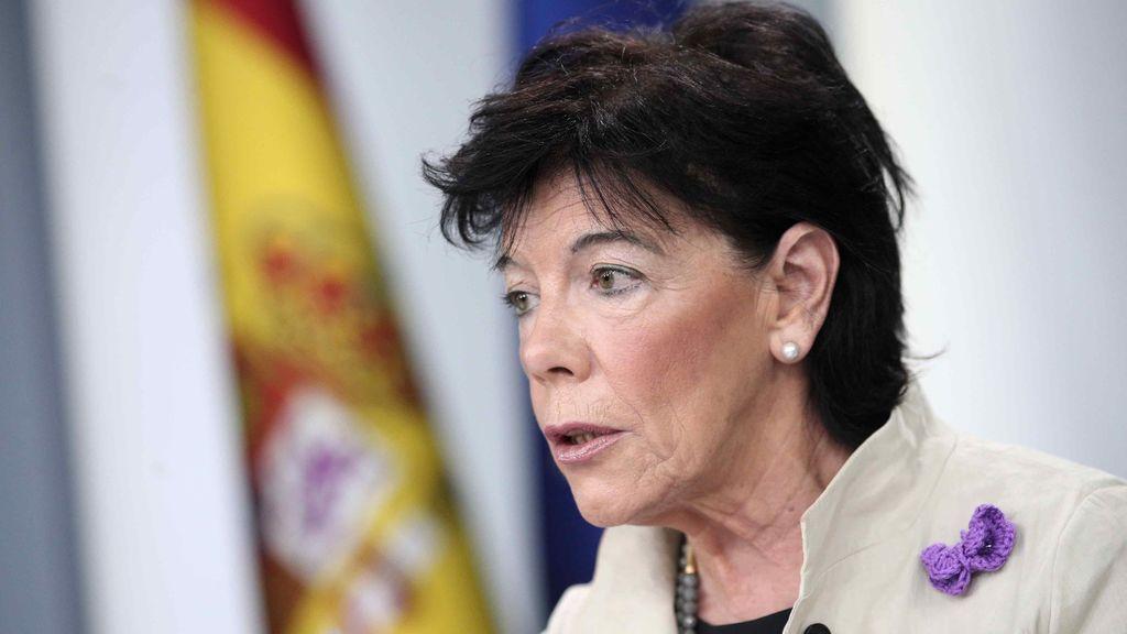 Isabel Celáa, portavoz del Gobierno