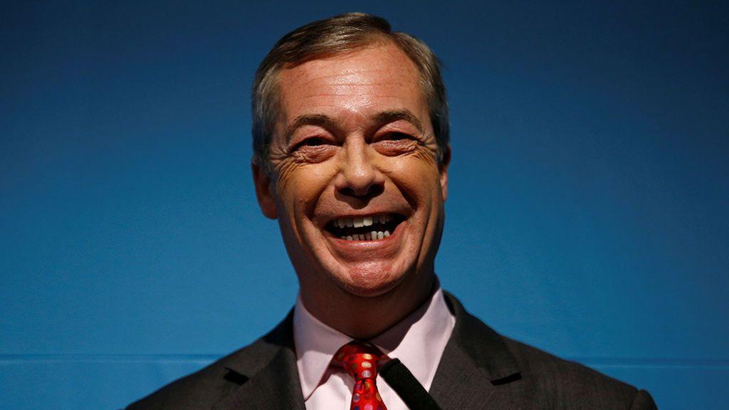 """Nigel Farage promete una """"revolución política"""" en el Reino Unido"""