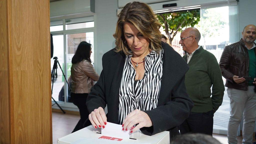 Susana Díaz vota a favor del acuerdo con Unidas Podemos para formar gobierno