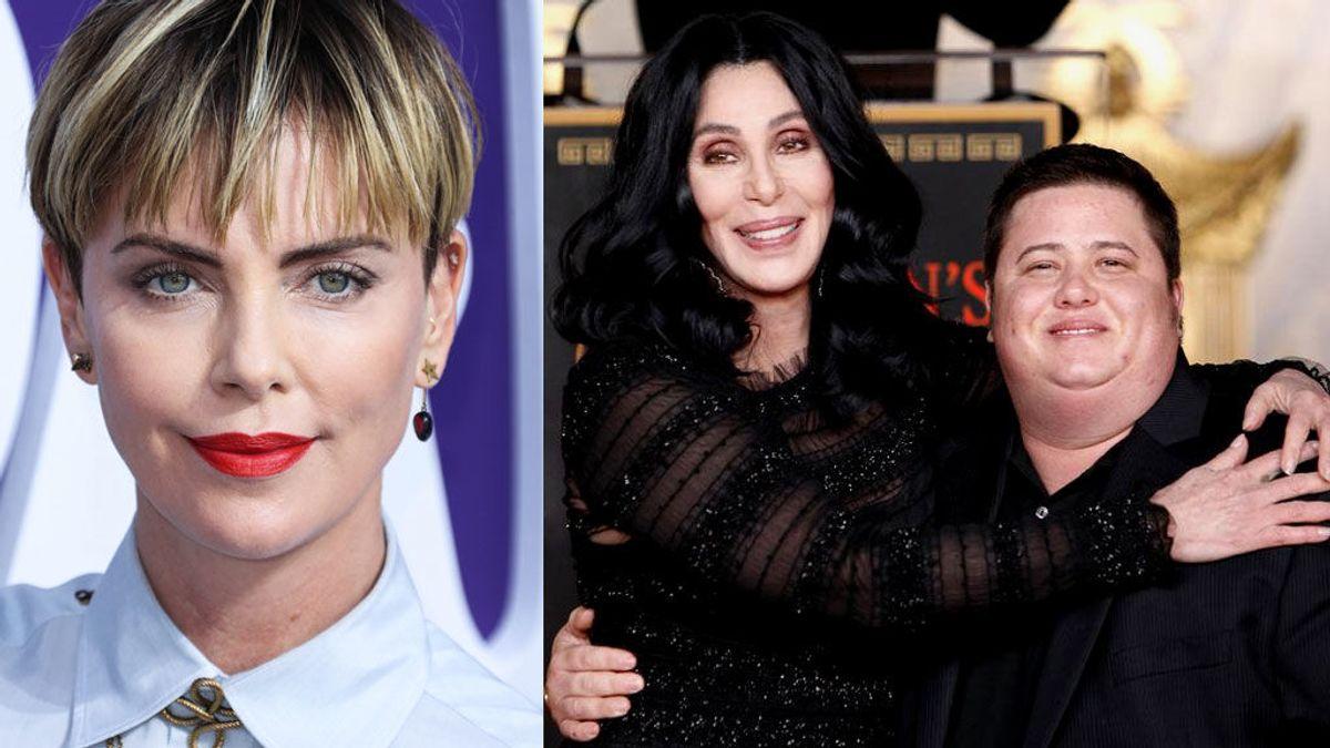Charlize Theron, Cher, Warren Beatty y otros famosos padres 'coraje' con hijos transgénero