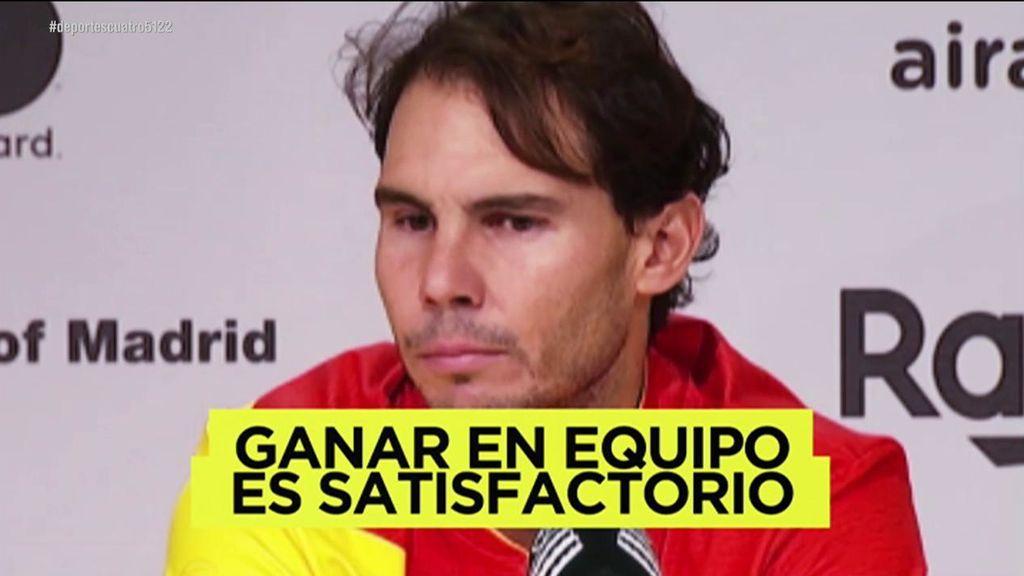 """El discurso de Nadal para poner en las escuelas: """"El tenis es un deporte individual, pero ganar en equipo es mucho más satisfactorio"""""""