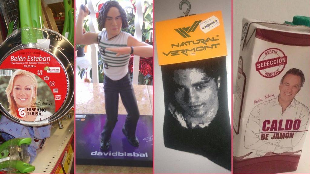 De las sartenes de Belén Esteban a los calcetines de Bustamante: El merchandising VIP más tróspido