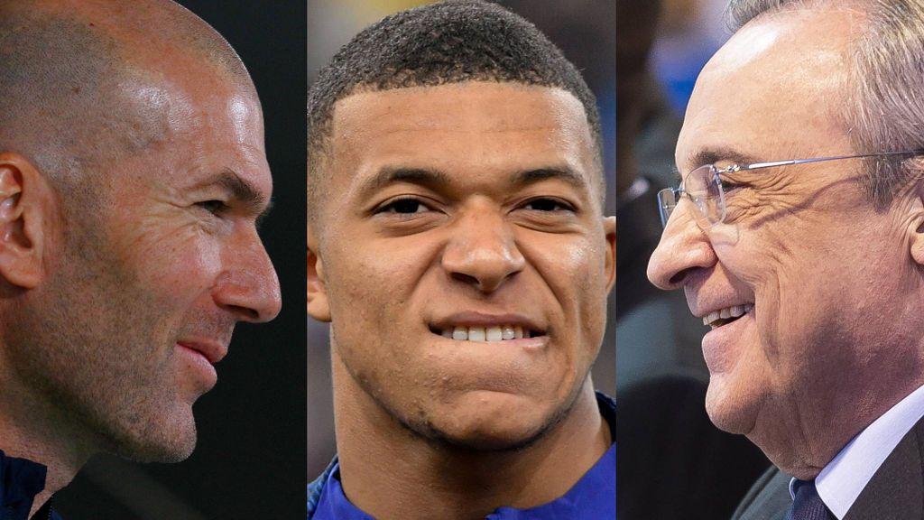 Mbappé se presenta al Bernabéu ante la afición, Zidane y Florentino expectantes por su futuro blanco