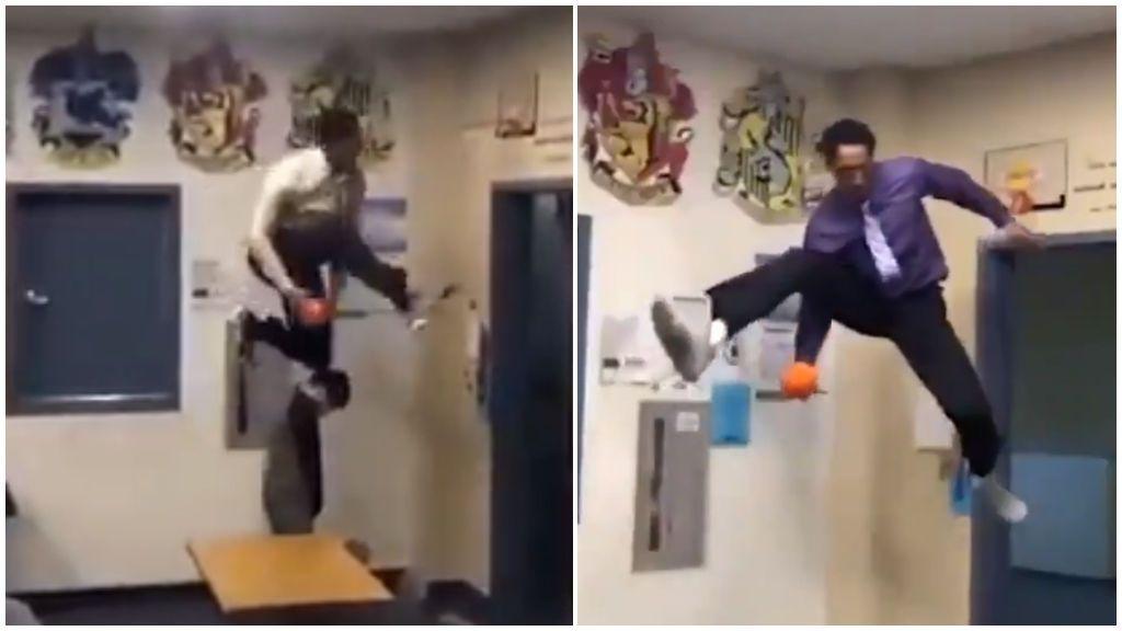 El tutor del 'Slam Dunk': el profesor de ciencias que acaba sus clases con unos mates espectaculares