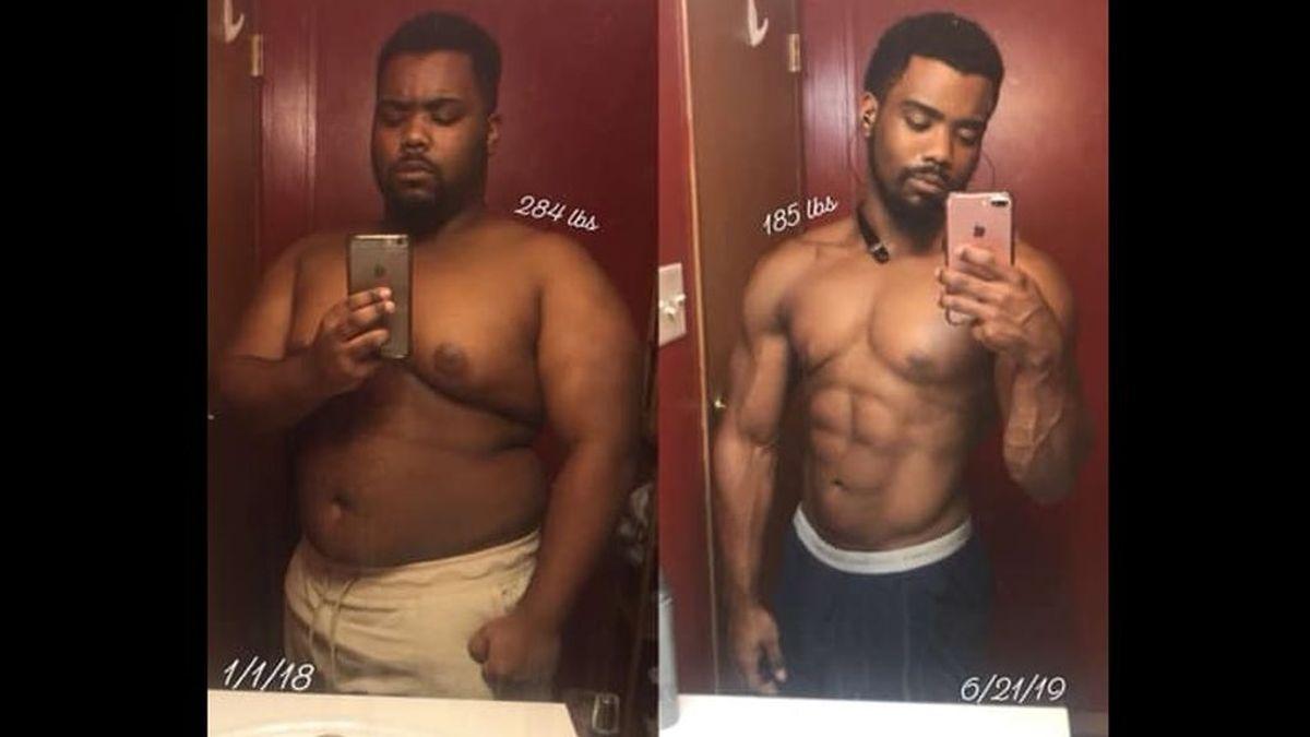 De pesar 128 kilos a ser culturista: el esfuerzo de un joven por superar su enfermedad