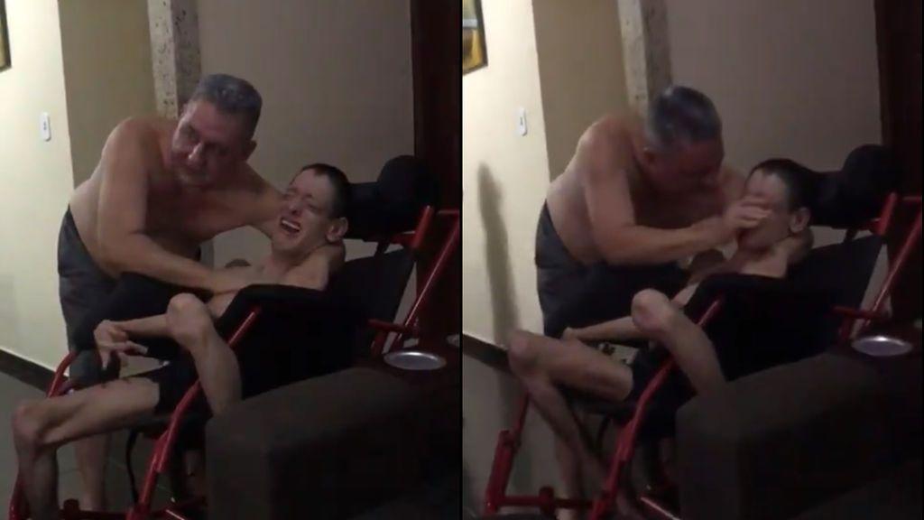 Las lágrimas de un joven con parálisis cerebral tras el gol de la victoria del Flamengo
