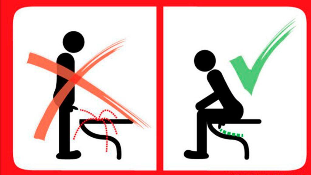 De pie o sentado, el dilema de los hombres al orinar