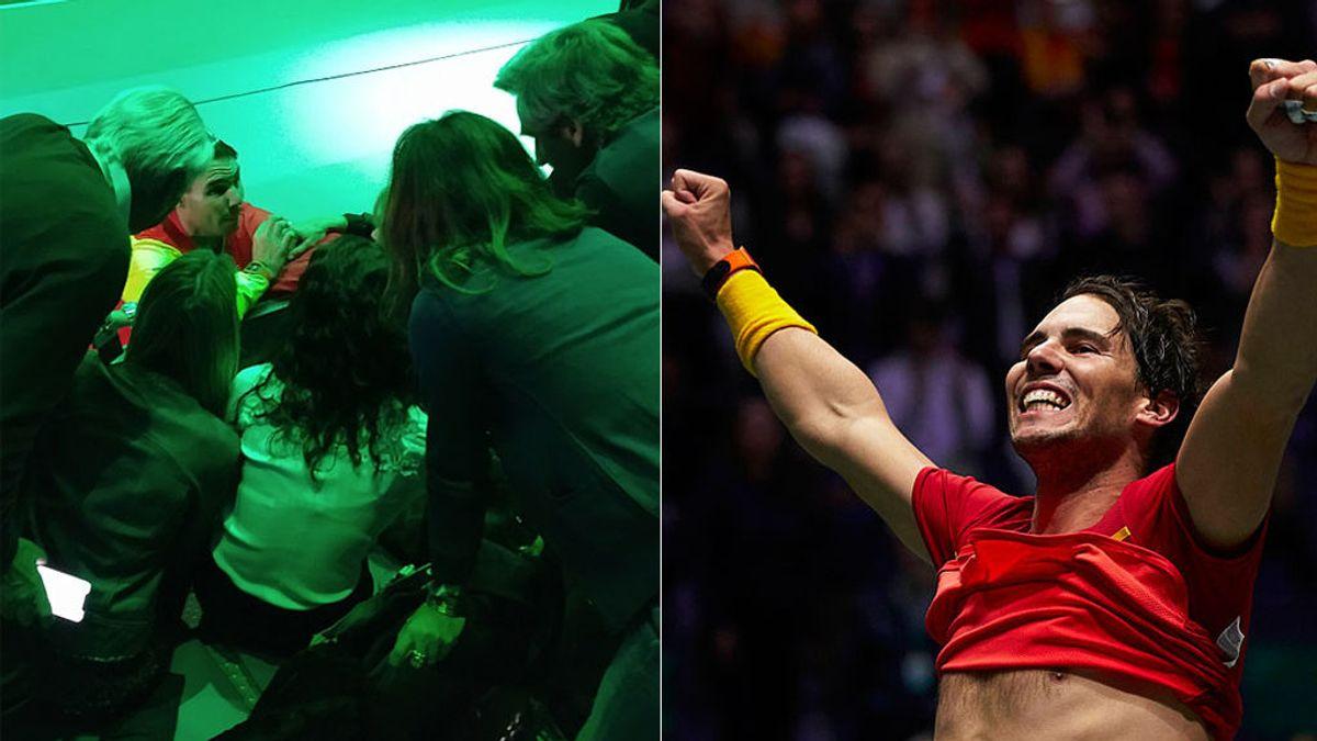 """Rafa Nadal, al abrazar su familia nada más ganar la Copa Davis: """"No puedo más"""""""