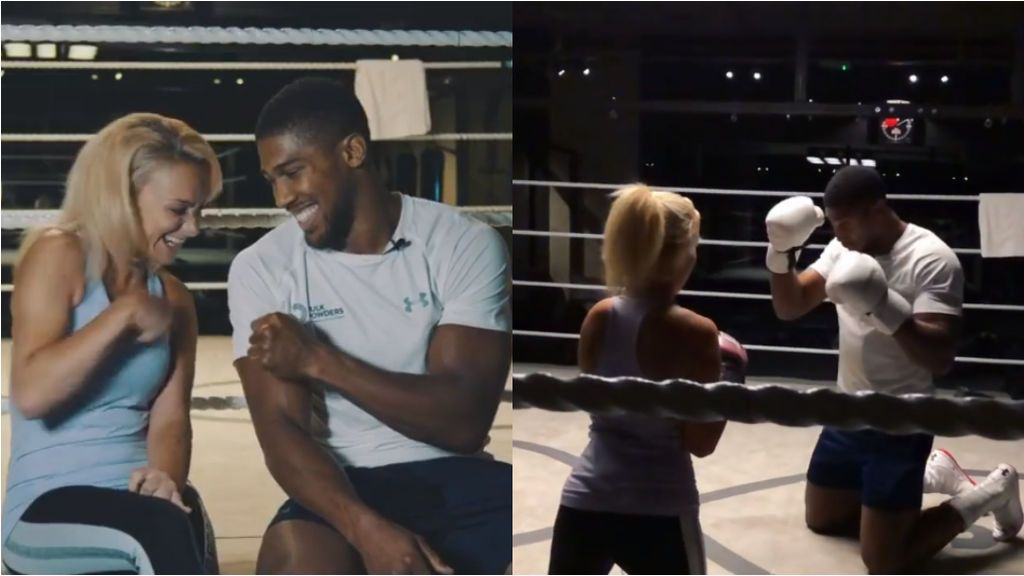 Anthony Joshua aparta su preparación para la revancha ante Andy Ruiz, para cumplir el sueño de una boxeadora con parálisis cerebral