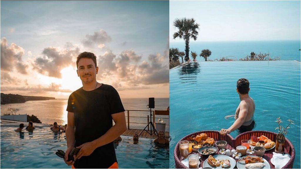 """El momento más especial de Jorge Lorenzo: """"Tomando el desayuno con mi cita. Se llama Vida"""""""