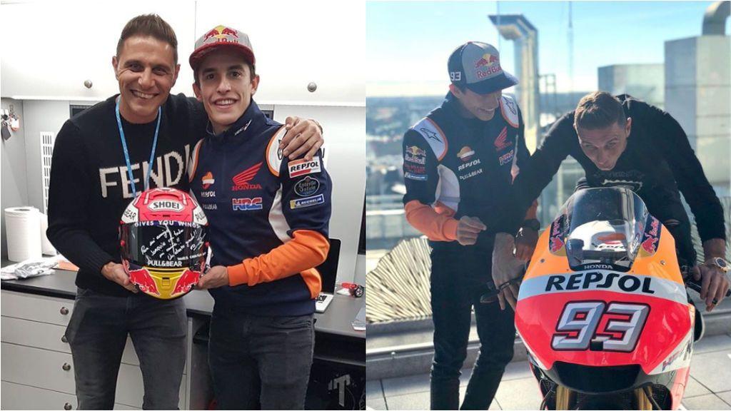 Joaquín vuelve 'asustao' de ver pilotar a Marc Márquez en el circuito de Jerez