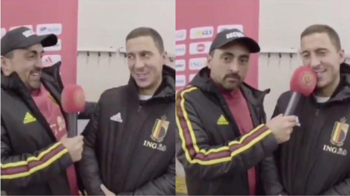 """El buen humor de Hazard y qué sabe pedir de comida en español: """"Cerveza, croquetas y jamón"""""""