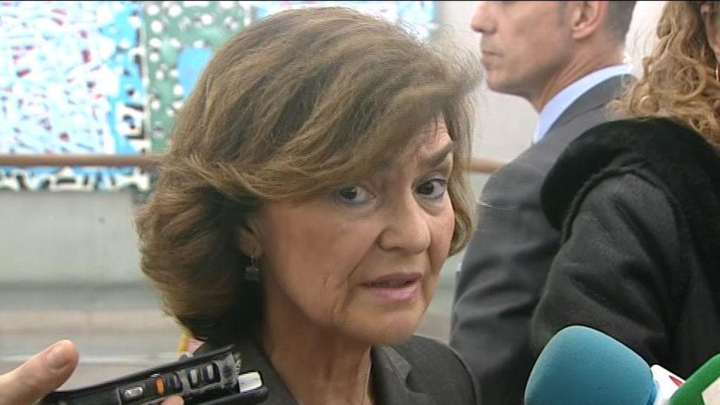 Carmen Calvo , vicepresidenta del Gobierno