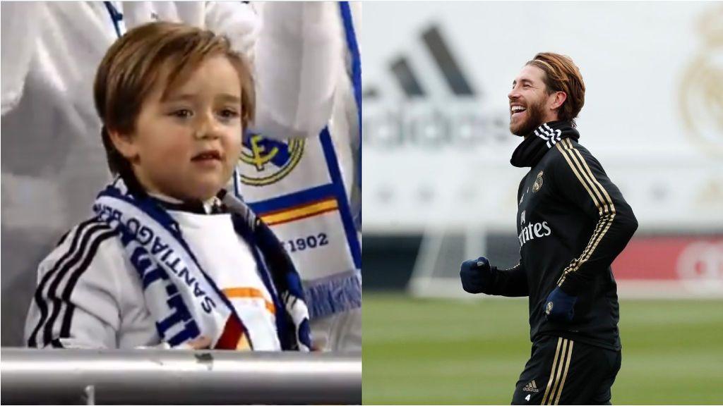 """Sergio Ramos se emociona con el apoyo de un niño: """"Aquí va mi beso"""""""