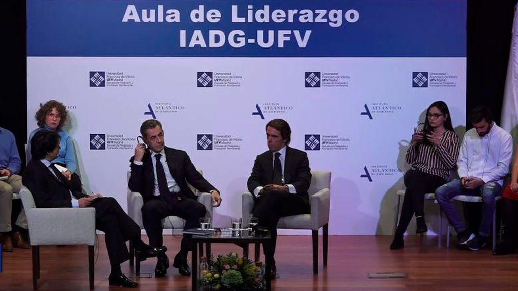 En directo: Aznar y Sarkozy hablan del futuro de Europa en la Universidad Francisco de Vitoria