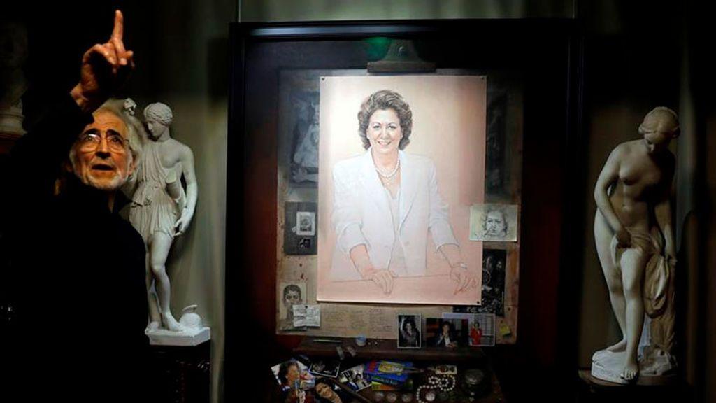 Valencia cuelga el retrato de Rita Barberá, tres años después de su muerte