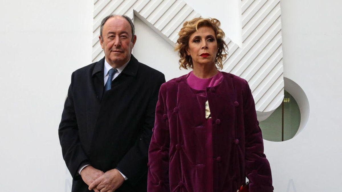 Agatha Ruiz de la Prada junto a Luis Miguel Rodríguez