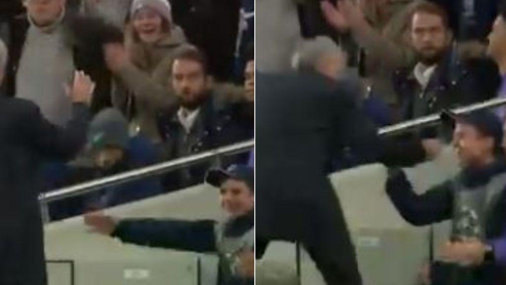 """La felicitación de Mourinho a un recogepelotas, clave en la remontada del Tottenham: """"Le invité al vestuario"""""""