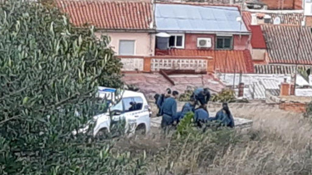 Guardia Civil rastreando la zona