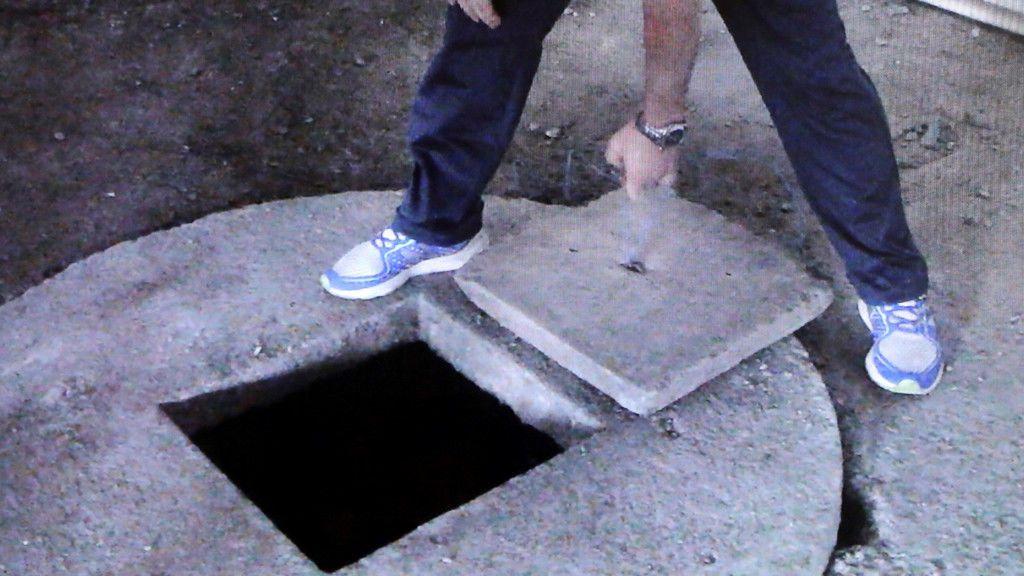 Imagen del pozo en el que estuvo sumergido el cuerpo de la joven durante casi 500 días