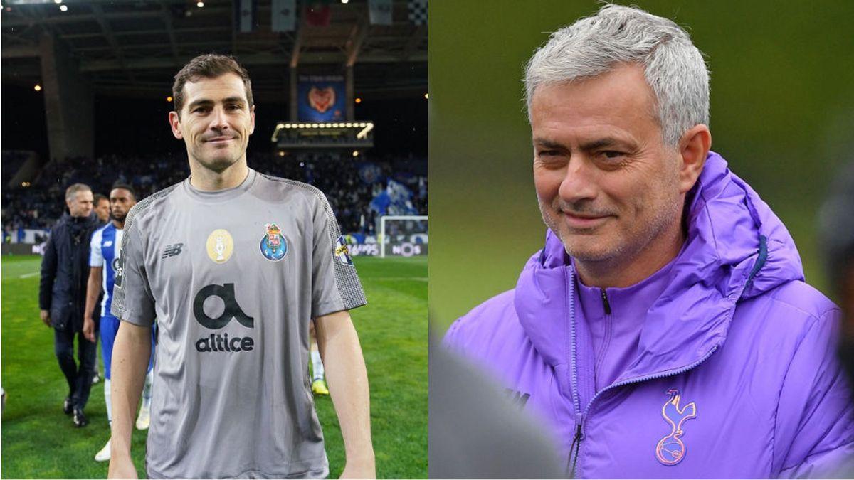 """El guiño de Casillas a Mourinho tras su estreno con el Tottenham en la Champions: """"Buenas decisiones"""""""