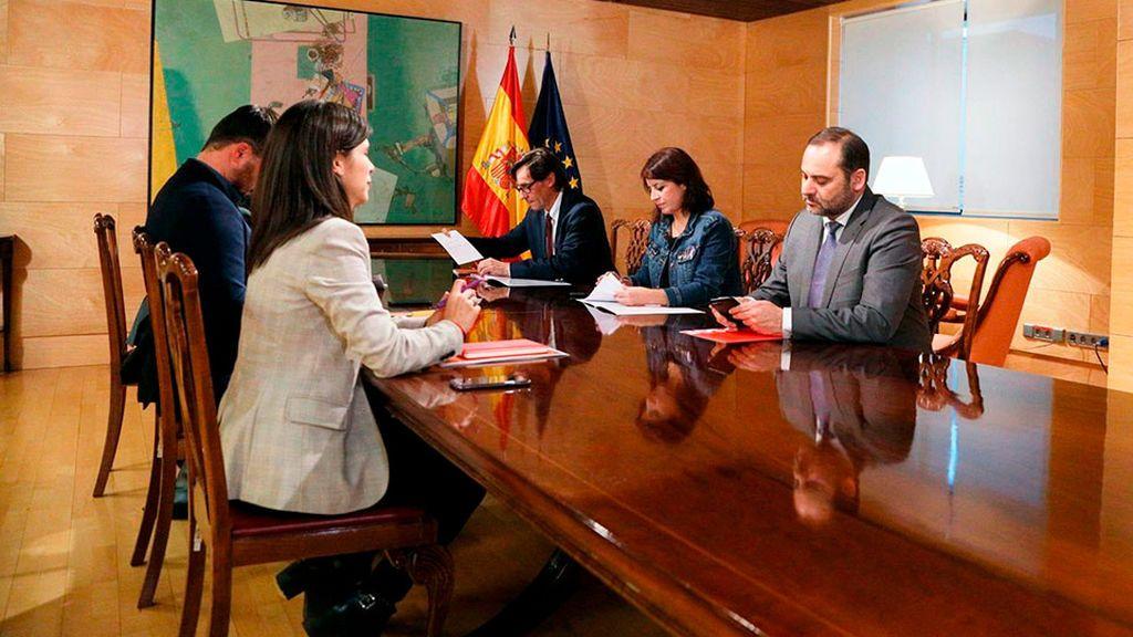 Primera reunión de negociación PSOE ERC