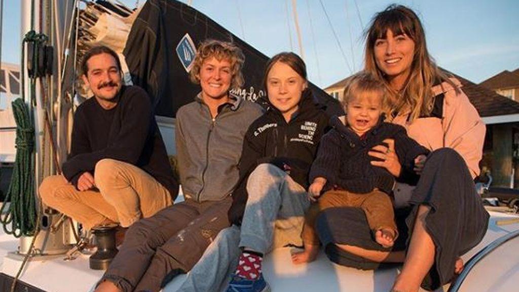 Las borrascas complican el viaje transatlántico de Greta Thunberg: su ruta en barco, en vivo