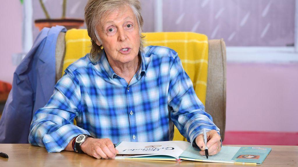 McCartney en la presentación de su libro