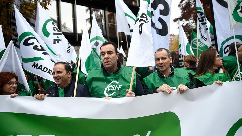 Protesta de CSIF para reclamar aumento salarial