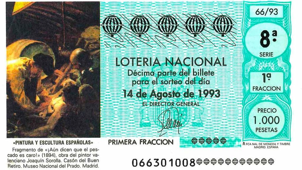 Los cuadros del Prado que inspiraron décimos de lotería