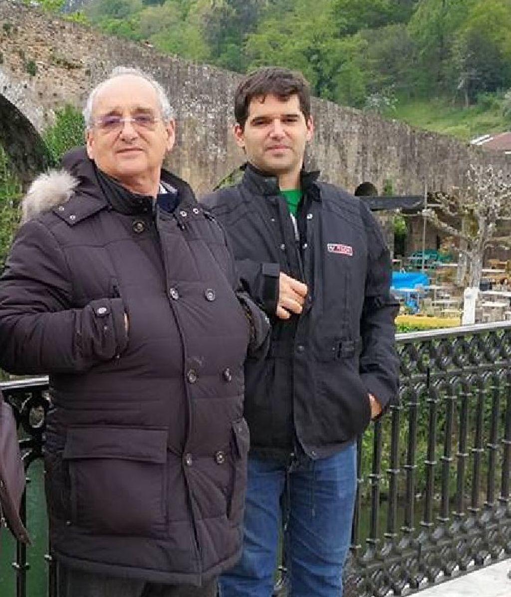 Ignacio con su padre