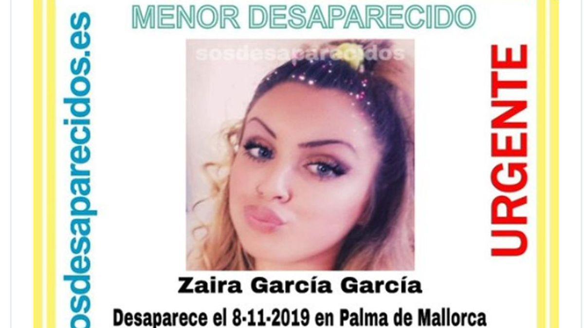 Buscan a Zaira García, una menor desaparecida en Palma