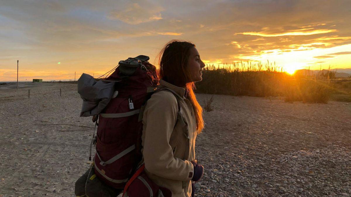 Una joven recorre a pie 5.400 kilómetros por España