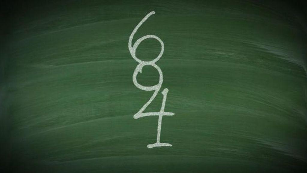 ¿Cuántos números eres capaz de ver en la pizarra?