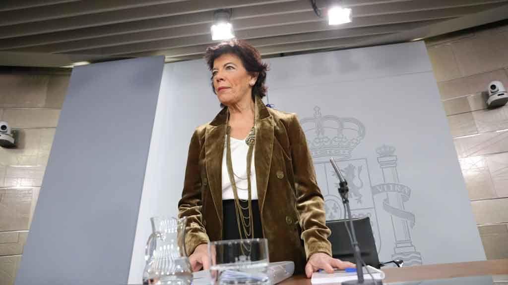 Isabel Celáa asegura que Sánchez no se presentará a una investidura fallida