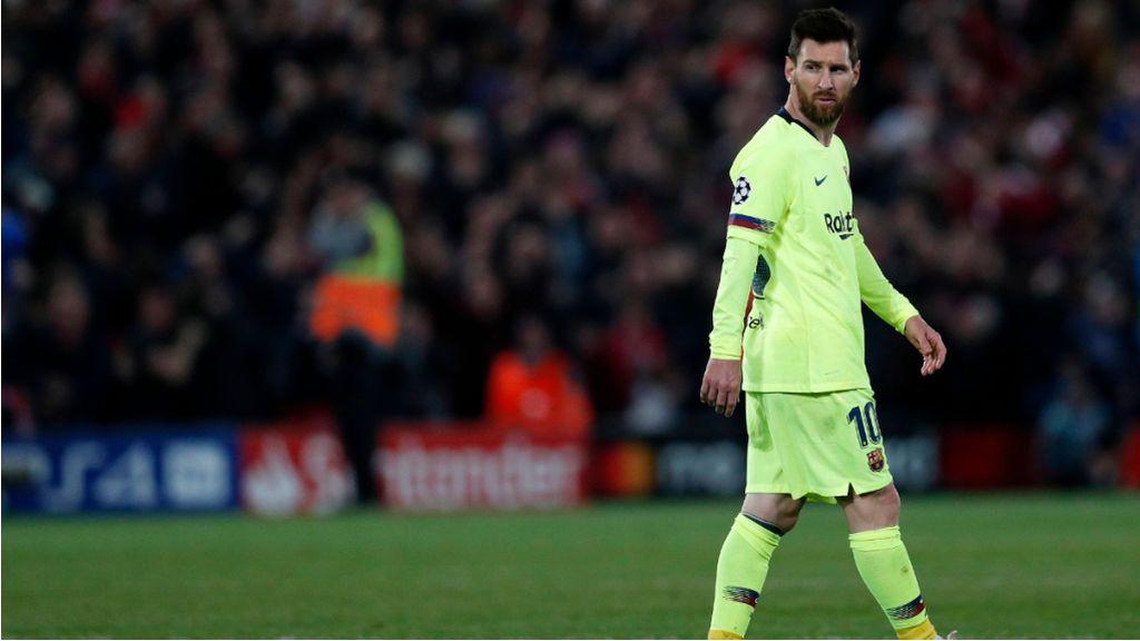 """Messi pidió que en Anfield no pasara lo mismo que en Roma: """"Lo de Roma fue culpa nuestra, que no pase lo mismo"""""""