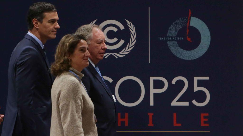 Pedro Sánchez acude a Ifema junto a Teresa Ribera para conocer las instalaciones de la Cumbre del Clima