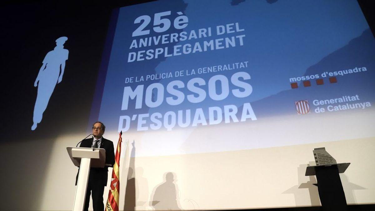 """Quim Torra agradece a los Mossos haber sido """"garantes"""" de derechos y libertades los últimos 25 años"""